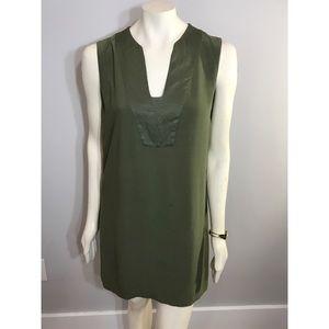 Mango Basics Olive Green Tunic T-Shirt Dress sz M